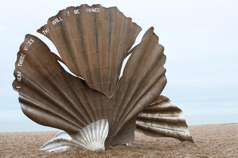 Maggi Hambling paintings sea shell scallop sculpture