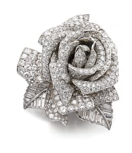 Jewelry auctions autumn 2020 rose brooch
