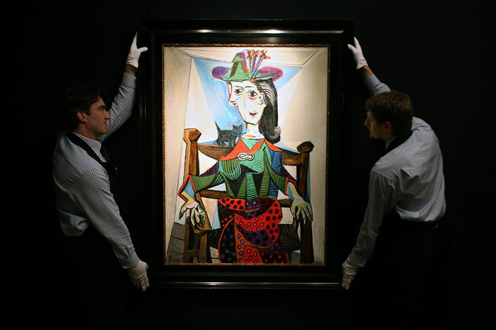 Art dealer in London Porters display Pablo Picasso's 'Dora Maar' at Sotheby's