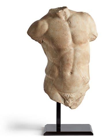 Art dealer in London Roman marble torso sculpture, 1st-2nd century AD