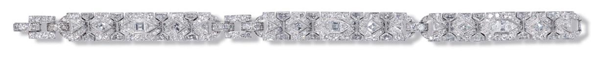 Handmade jewelry vintage Tiffany art deco bracelet
