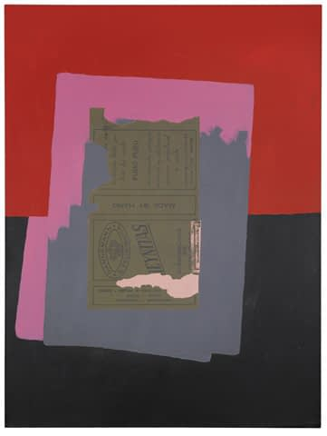 Private art sales Robert Motherwell, Brasileira, signed and dated Aug 1975