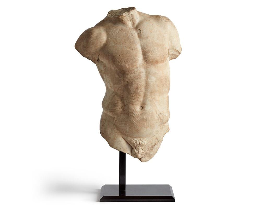 Private art sales Roman marble torso sculpture, 1st-2nd century AD
