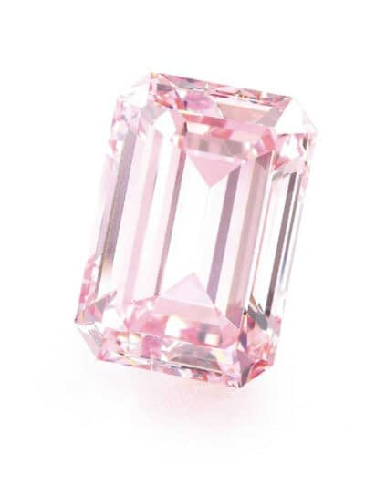 Rare gems for sale emerald cut fancy intense pink diamond