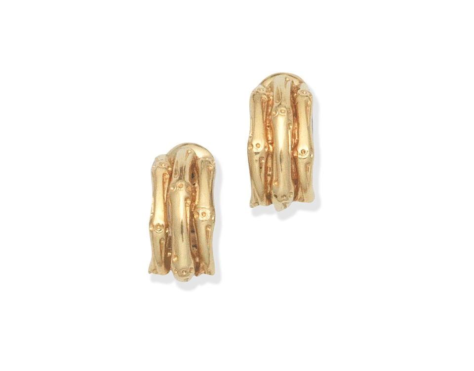Handmade jewelry vintage Van Cleef & Arpels 'Bamboo' ear-clips