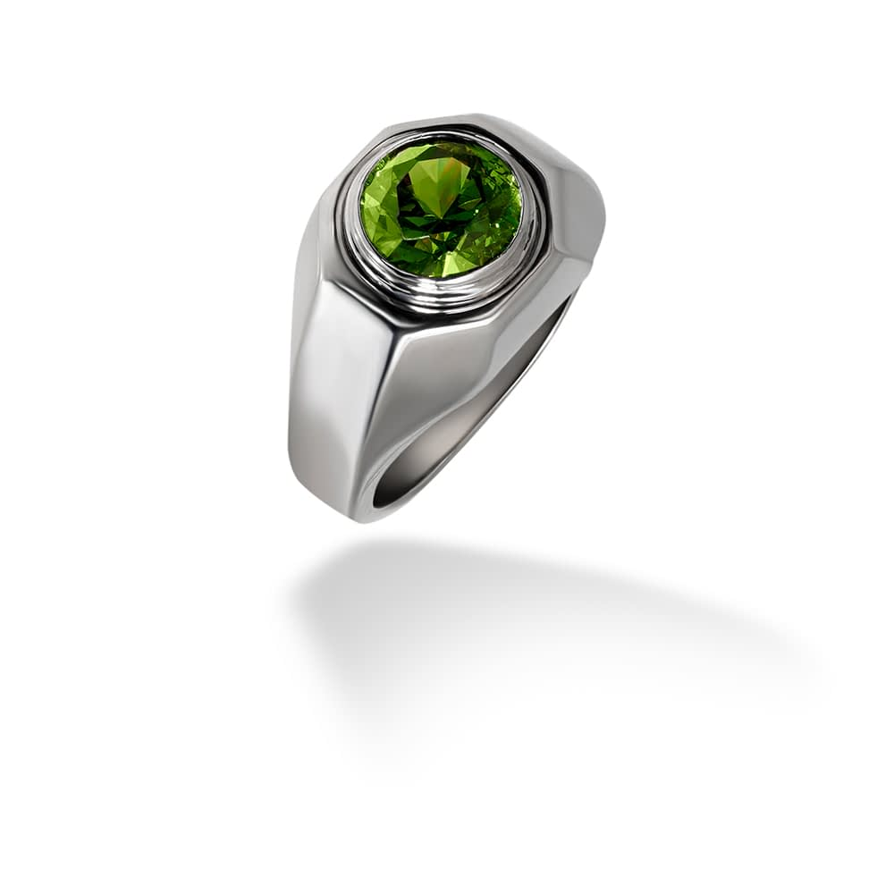 Bulgari Demantoid Garnet Ring