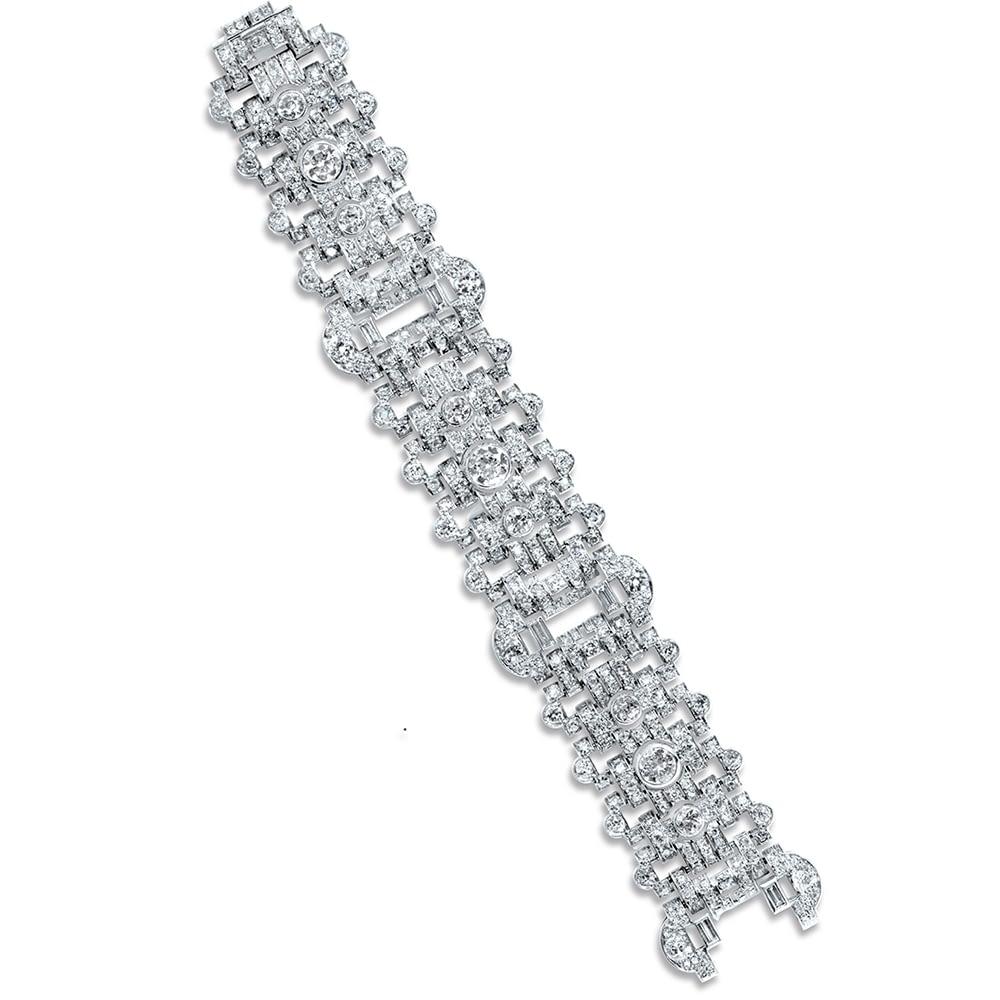 art deco platinum diamond bracelet & vintage bulgari jewelry slider home
