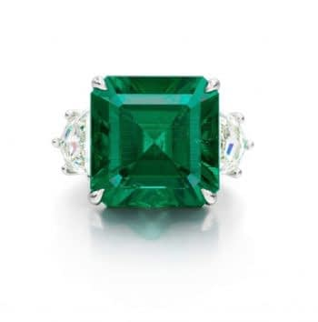 Gemstone auctions muzo colombian emerald ring
