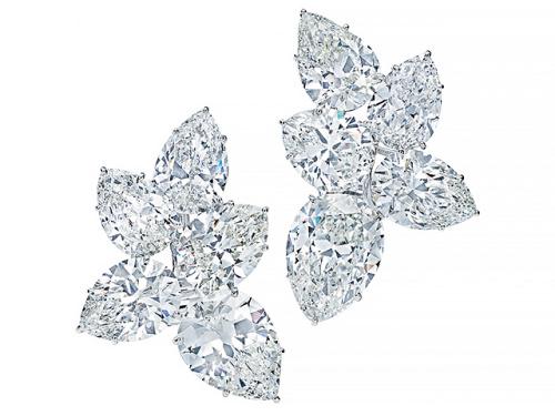 Important jewels Harry Winston cluster earrings