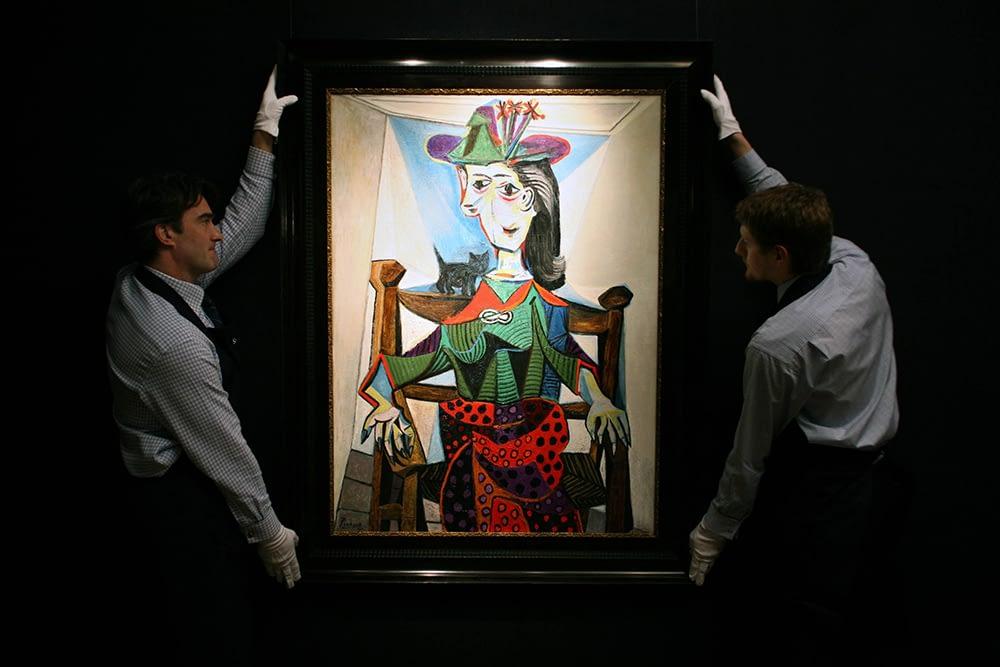 Art dealer in London Porters display Pablo Picasso's 'Dora Maar' at Sotheby's