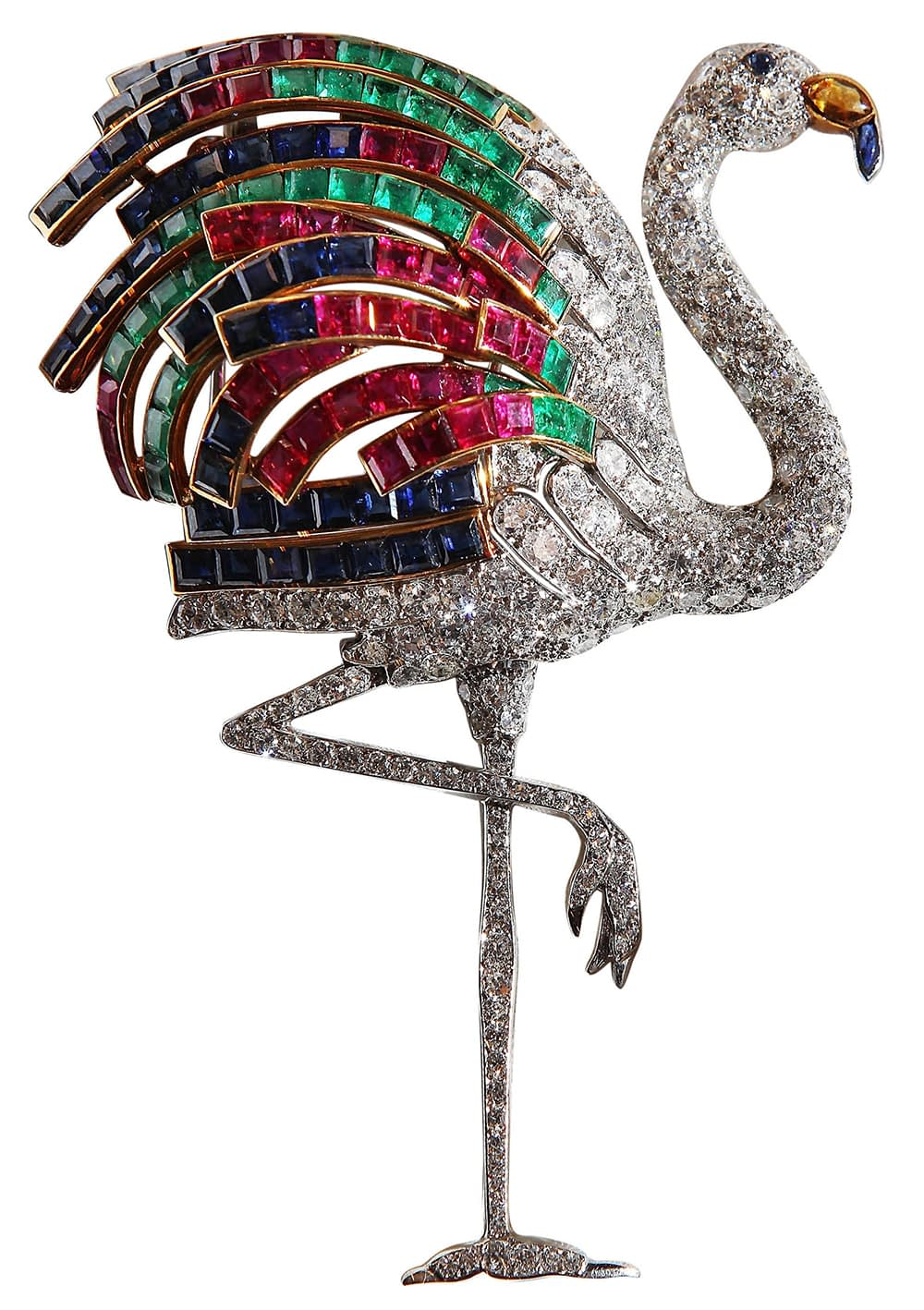 Important jewels Cartier The Duchess of Windsor flamingo brooch