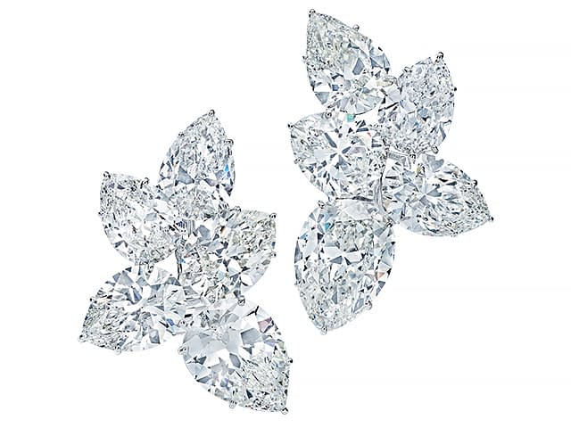 Important jewels Harry Winston cluster earrings