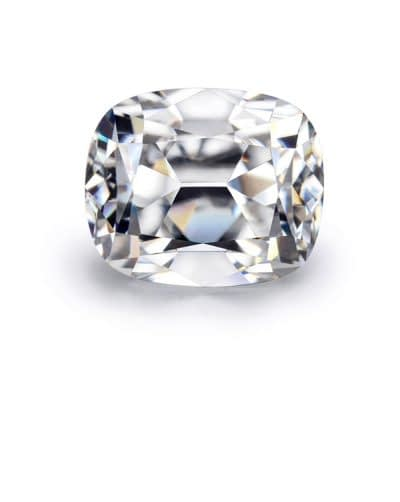 Jewelry dealer in London exceptional white cushion shape diamond